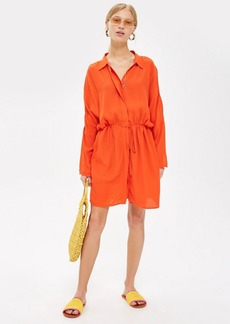 Topshop Petite Drawstring Shirt Dress