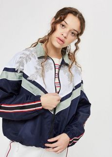 Topshop Petite Embellished Windbreaker Jacket