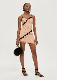 Topshop Petite Fan Lace Mini Slip Dress