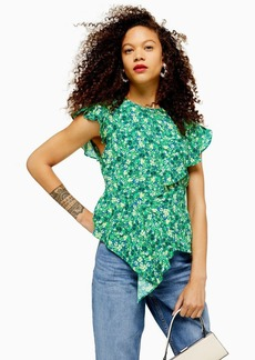 Topshop Petite Field Festival Frill Blouse