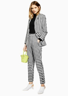 Topshop Petite Gingham Tapered Trousers