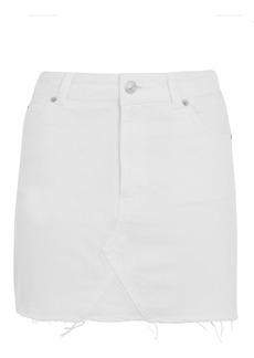 Petite High Waisted Denim Skirt