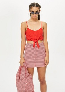 Topshop Petite Knot Front Cropped Camisole Top