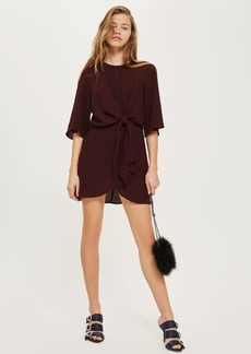 Petite Knot Front Mini Shift Dress