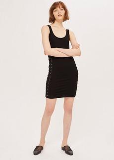 Topshop Petite Lace Up Side Mini Dress