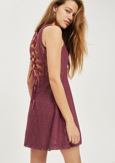 Petite Lace Up Skater Dress