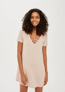 Petite Lattice Front Swing Dress