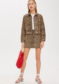 Topshop Petite Leopard Print Skirt