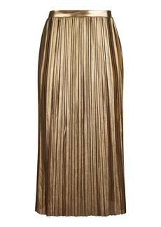 Petite Metallic Pleat Skirt