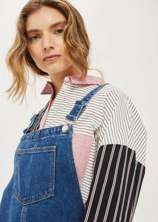 Topshop Petite Pocket Pinafore Dress