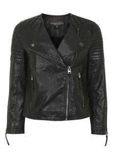 Petite Poppy Pu Biker Jacket