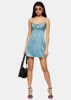Clothing /Dresses /Petite Powder Blue Gathered Bust Slip Dress