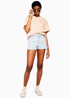 Topshop Petite Premium Bleach Mom Shorts