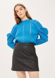 Topshop Petite Pu Classic Mini Skirt