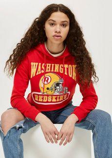Topshop Petite Redskins Cropped Hoodie
