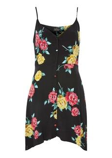 Topshop Petite Rose Button Slip Dress
