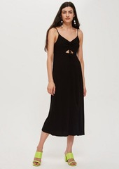 Topshop Petite Ruched Front Molly Midi Slip Dress
