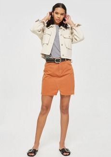 Topshop Petite Rust Mini Skirt
