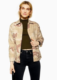 Topshop Petite Sand Camouflage Jacket