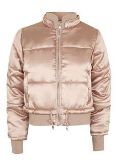 Petite Satin Carter Puffer Jacket
