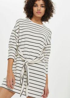 Topshop Petite Stripe Cut Sew Dress