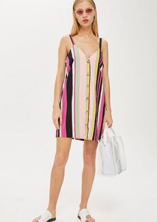 Topshop Petite Stripe Mini Dress