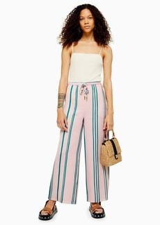 Topshop Petite Stripe Wide Leg Trousers