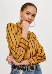 Topshop Petite Striped Shirt