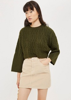 Topshop Petite Super Soft Cable Cropped Jumper