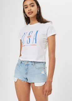 Topshop Petite Usa Neat T Shirt