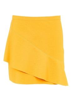 Petite Wave Front Mini Skirt