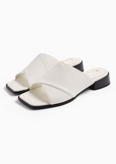 Topshop Phoenix White Cross Over Sandals