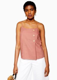 Topshop Pink Button Wrap Cami