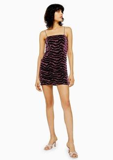Topshop Pink Glitter Metallic Thread Dress