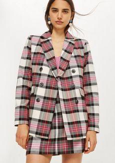 Topshop Pink Tartan Jacket
