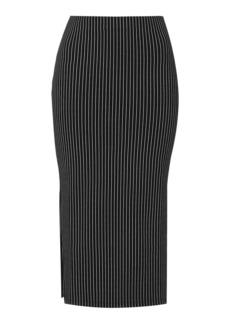 Pinstripe Tube Skirt