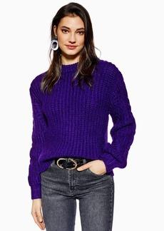 Topshop Plaited Sleeve Sweater