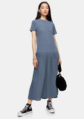 Topshop Pleat Mesh Midi Dress
