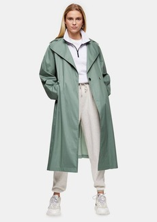 Topshop Pleated Back Trench