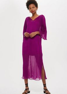 Topshop Pleated Batwing Dress By Boutique