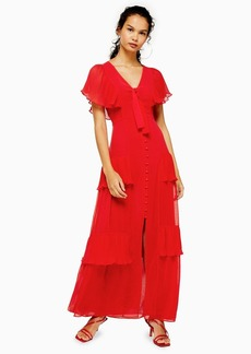 Topshop Pleated Maxi Dress