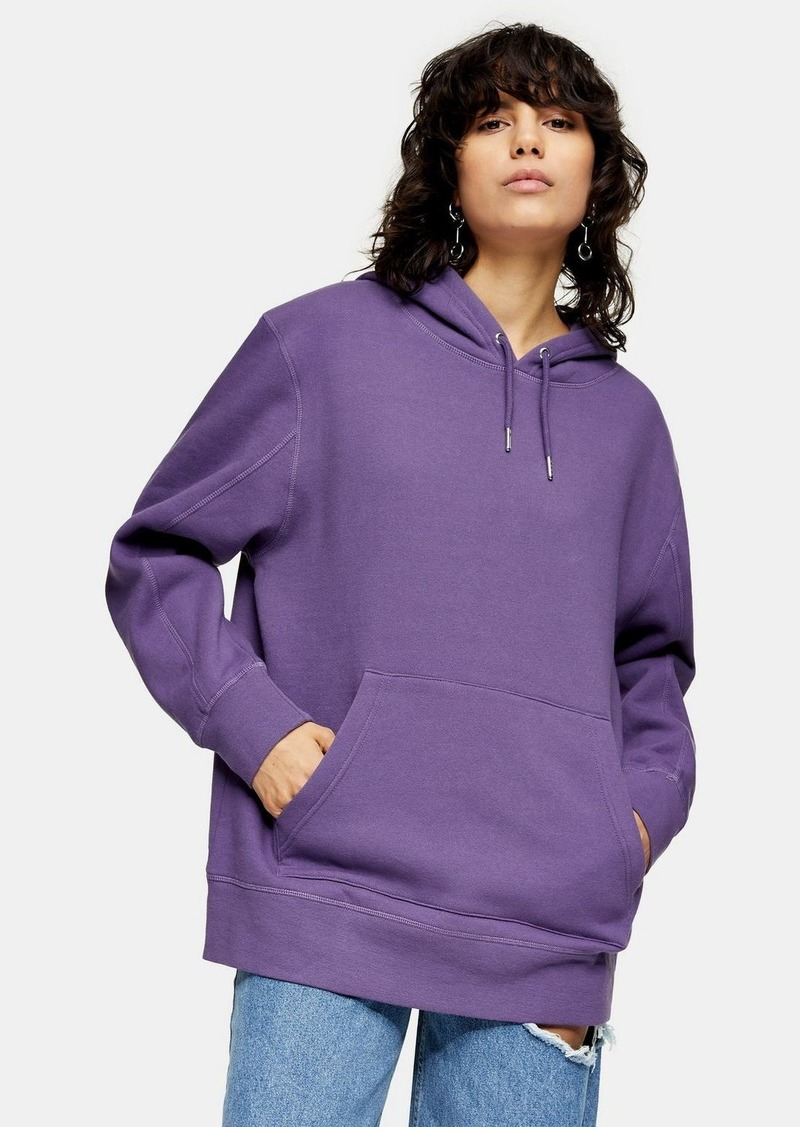 Clothing /Hoodies Sweats /Plum Overlock Hoody