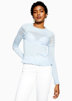 Topshop Pointelle Detail Top