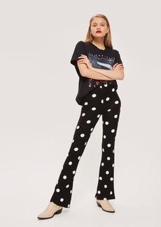 Topshop Polka Dot Flared Trousers