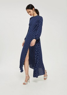 Topshop Polka Dot Print Open Back Maxi Dress