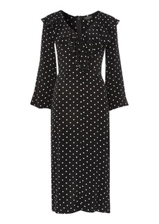 Polka Dot Ruffle Midi Dress