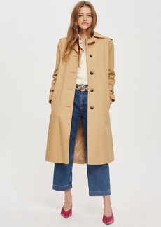Power Shoulder Trench Coat