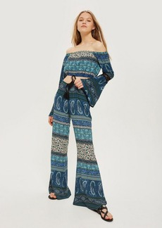 Topshop Printed Flared Trousers By Band Of Gypsies