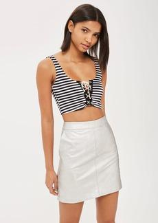 Pu Pencil Mini Skirt