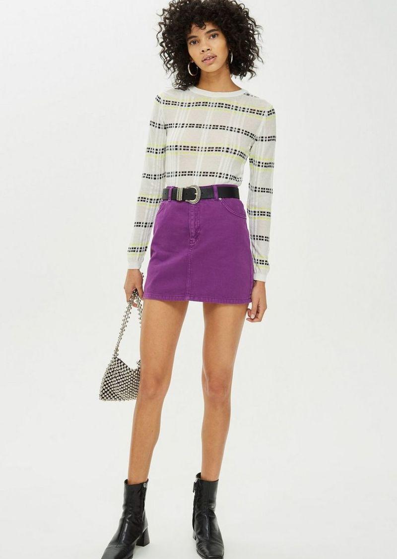 a5d20b61d6 Topshop Purple Denim Skirt | Skirts